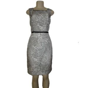 ANN TAYLOR Floral Jacquard Sheath Dress Size 6
